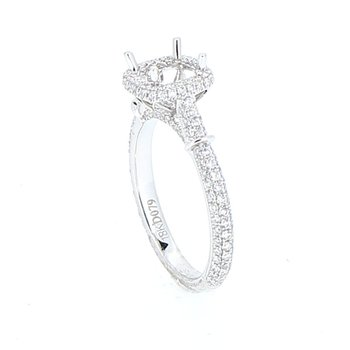 Diamond Halo Ring Mounting