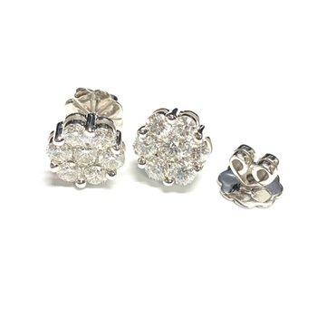 2.50 Diamond Cluster Studs