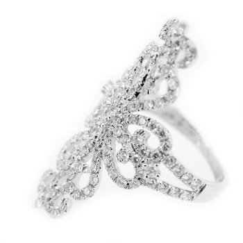 Diamond Filigree Fashion Ring