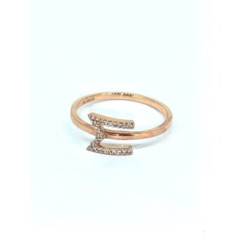 Diamond M Initial Ring