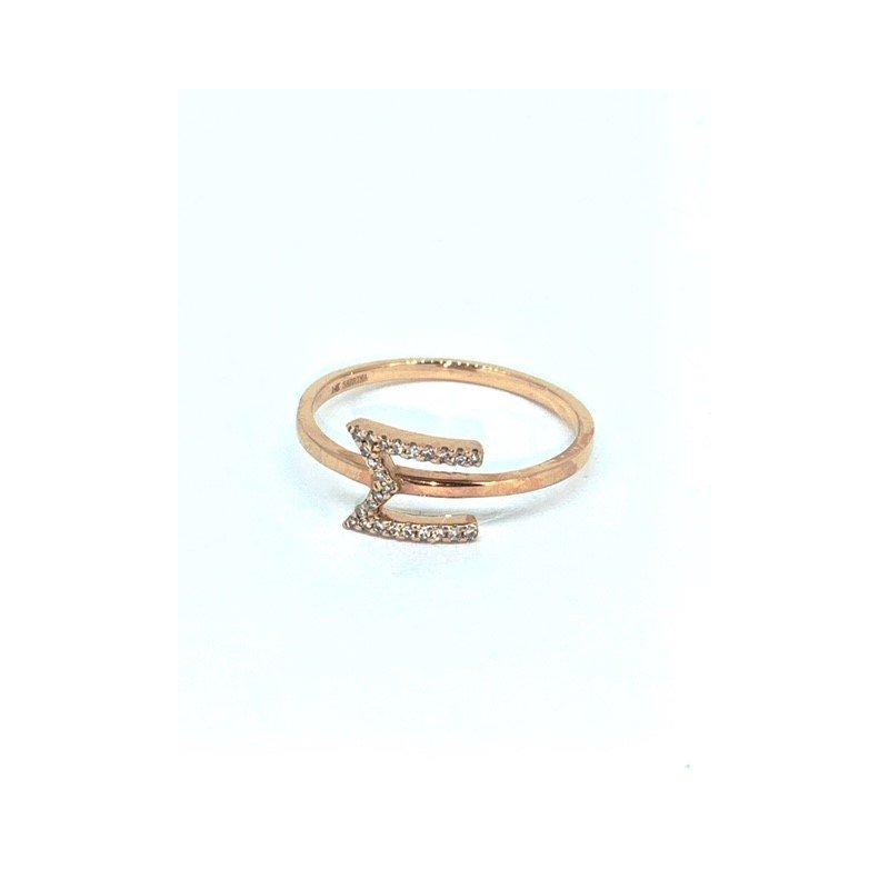 Sabrina Diamond M Initial Ring
