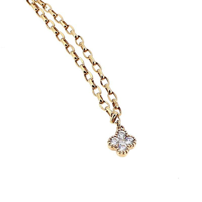 Decor Rose Gold Diamond Necklace