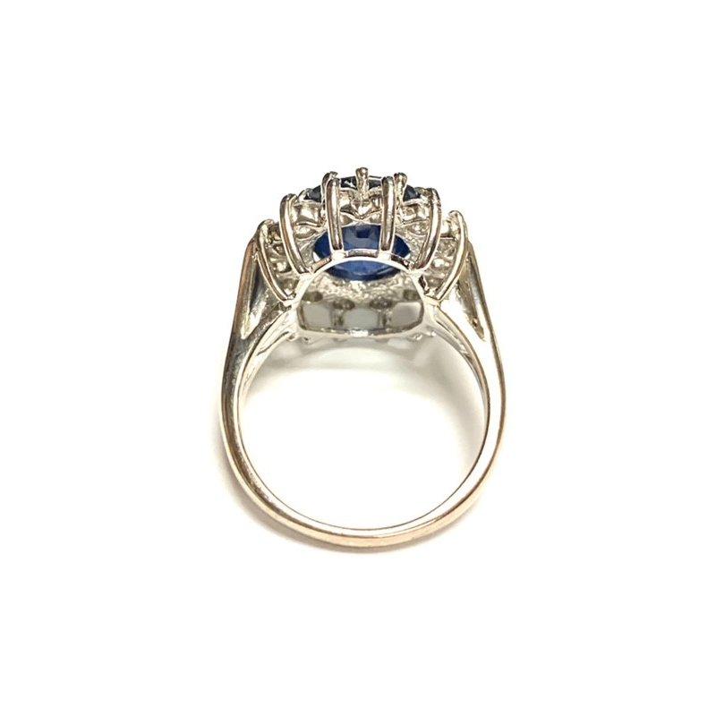 Decor Sapphire and Diamond Halo Ring