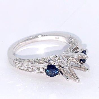 Sapphire & Diamond Ring Mounting