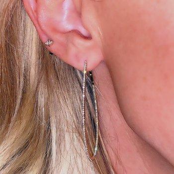 .61ctw Skinny Diamond Hoop Earrings