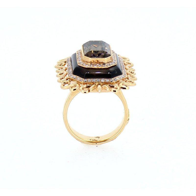 Sophia By Design Smokey Topaz & Diamond Accent Ring