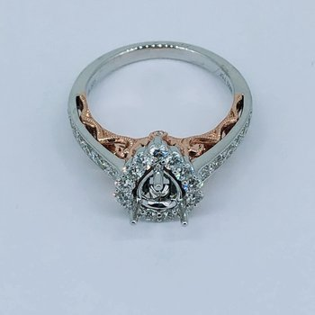 Pear Shape Diamond Ring Mounting