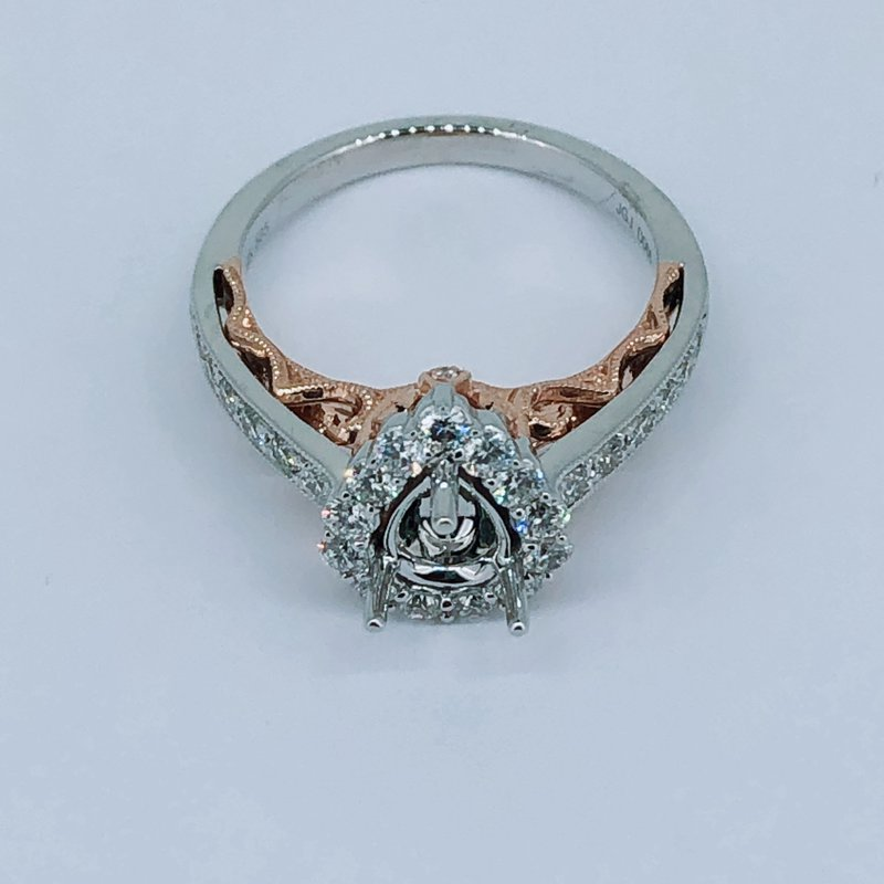 Decor Pear Shape Diamond Ring Mounting