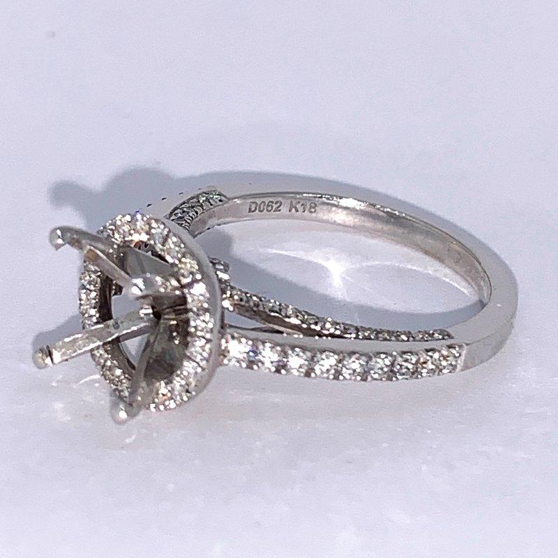 Decor Round Halo Diamond Engagement Ring Mounting