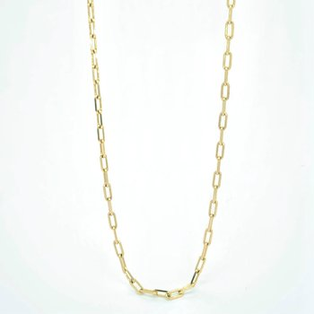 Dainty Paperclip Chain Necklace