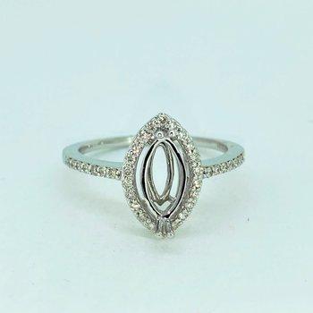 Halo Marquise Diamond Ring Mounting