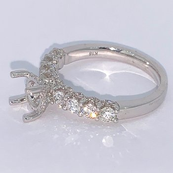 Diamond Ring Mounting w/Diamond Gallery