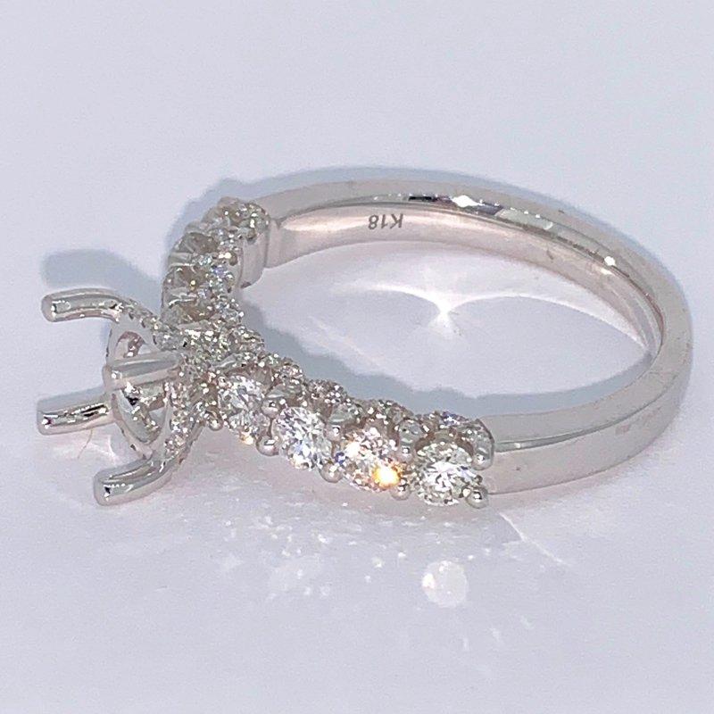 Decor Diamond Ring Mounting w/Diamond Gallery