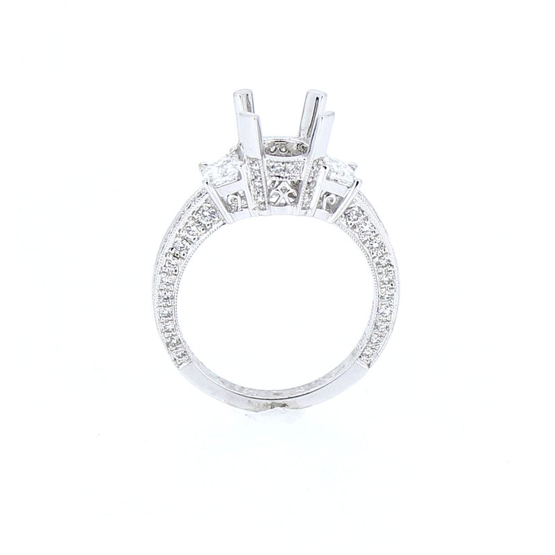 Decor Ring Mounting w/Trapezoid Diamond Sides