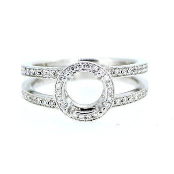 Double Band Halo Ring Mounting