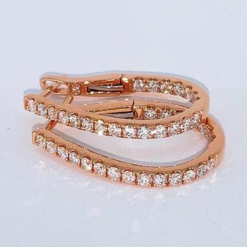 Rose Gold Diamond Hoop Earring