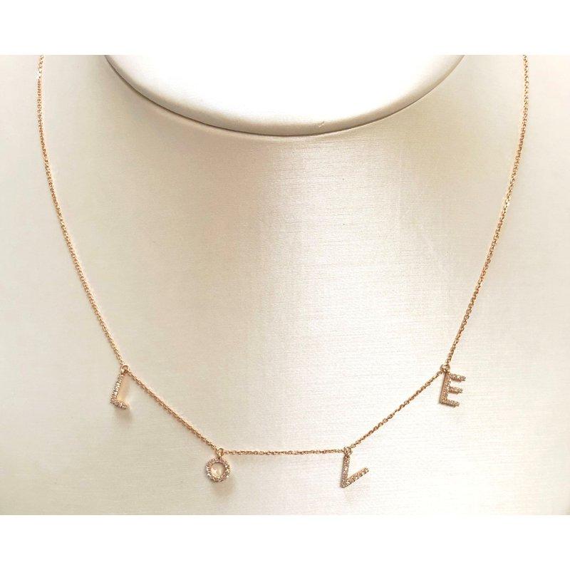 Decor LOVE Diamond Dangle Necklace