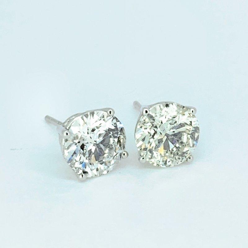 Decor 3.42ctw Diamond Stud Earrings