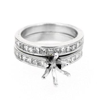 Princess Cut Diamond Ring Mounting & Band