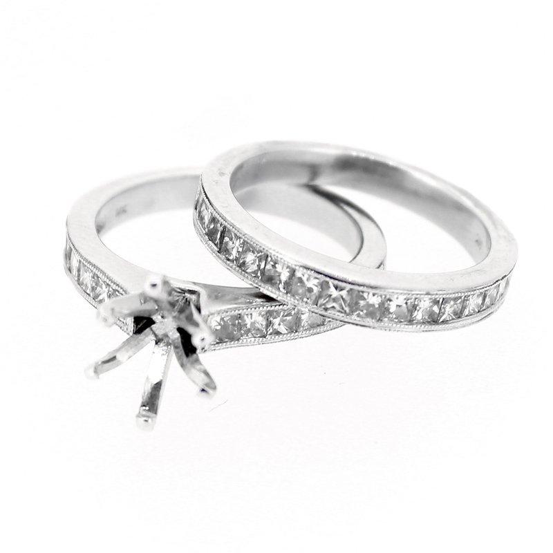 Decor Princess Cut Diamond Ring Mounting & Band