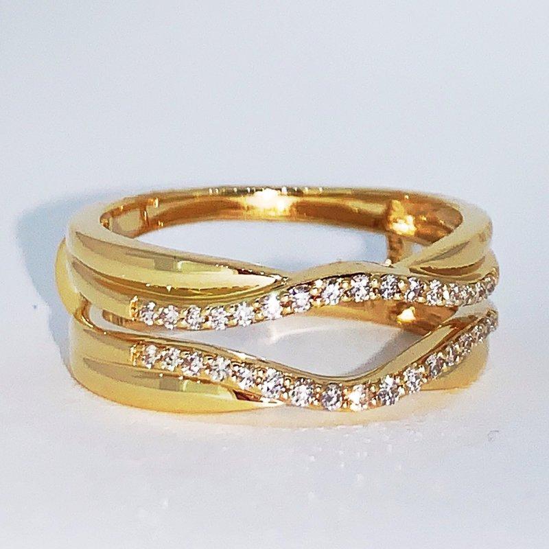 Decor Wrap Around Diamond Ring Guard