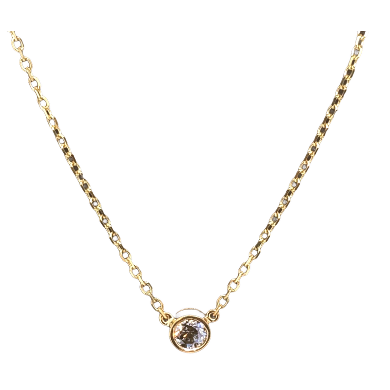 Decor Bezel Solitaire Necklace