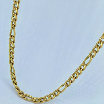 """24"""" Figaro Gold Chain Link Necklace"""