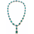 Decor Emerald & Diamond Necklace