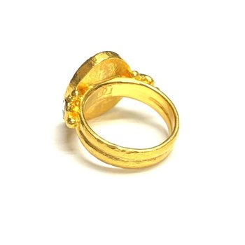 Black Diamond and Rose Cut Ring