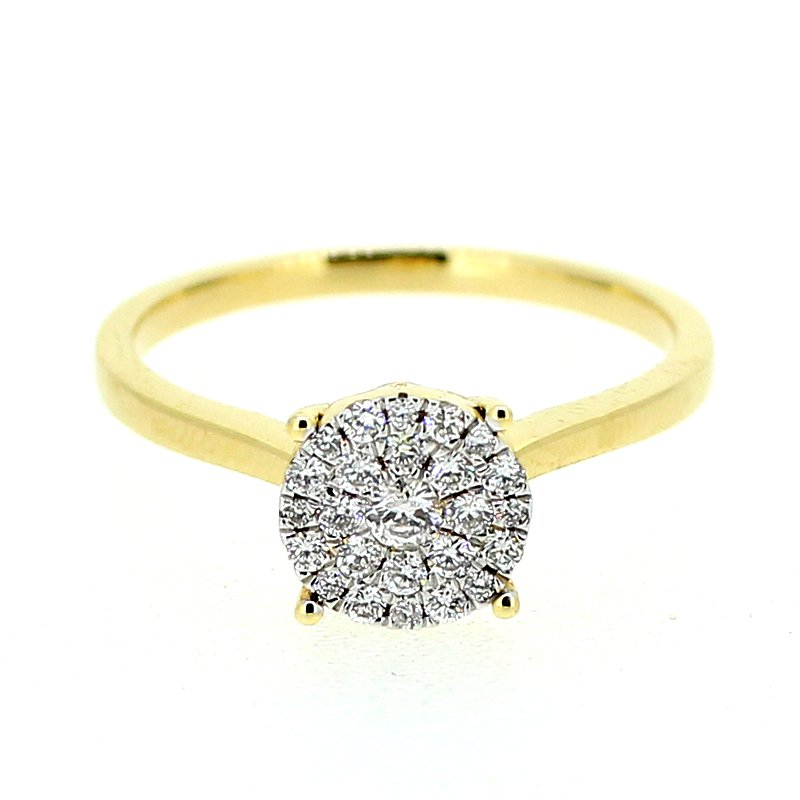 Decor Diamond Cluster Ring