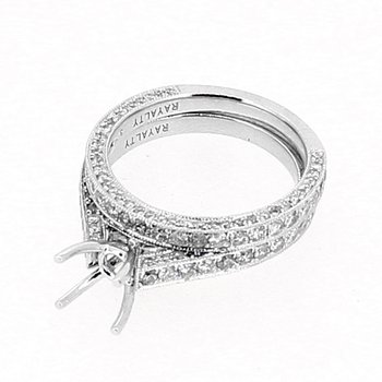 Pave Diamond Ring Mounting & Band