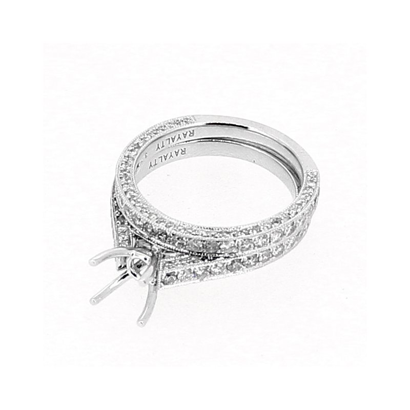 Decor Pave Diamond Ring Mounting & Band