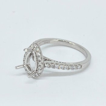 Pear Halo Diamond Ring Mounting