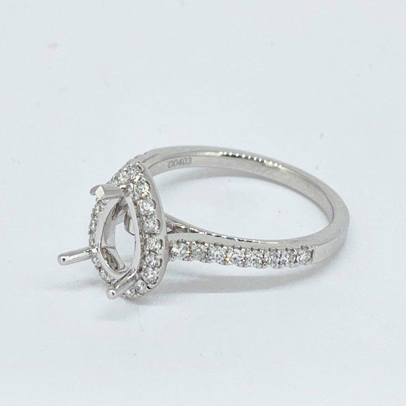 Decor Pear Halo Diamond Ring Mounting