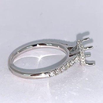 Hidden Halo Diamond Ring Mounting