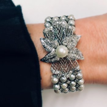 Four Row Pearl Bracelet