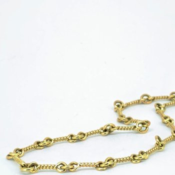 """18"""" Twisted Link Gold Chain Necklace"""