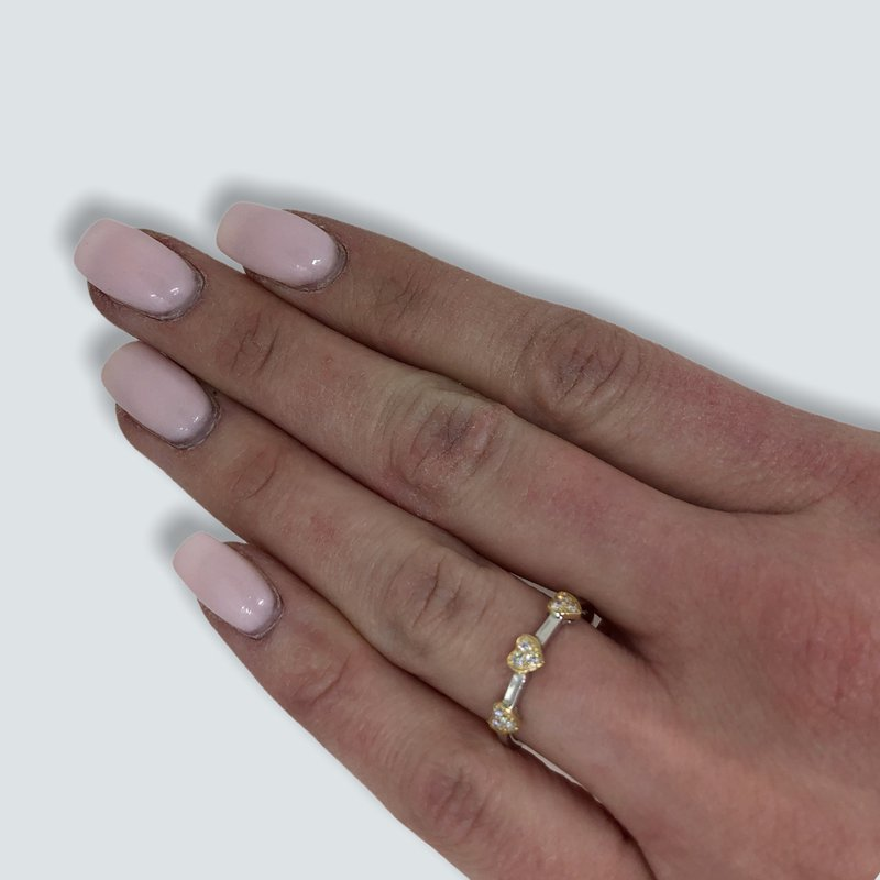 Decor Diamond Heart Ring