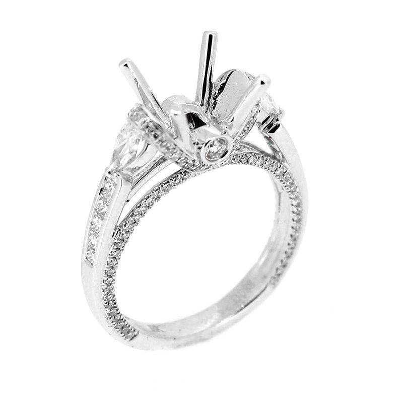 Decor Ring Mounting with Pear Side Diamonds