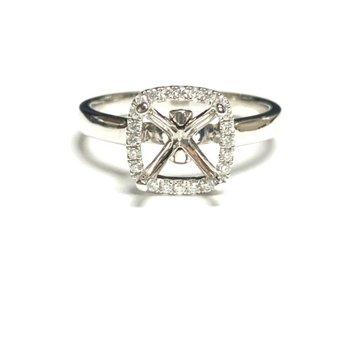 Cushion Halo Diamond Ring Mounting