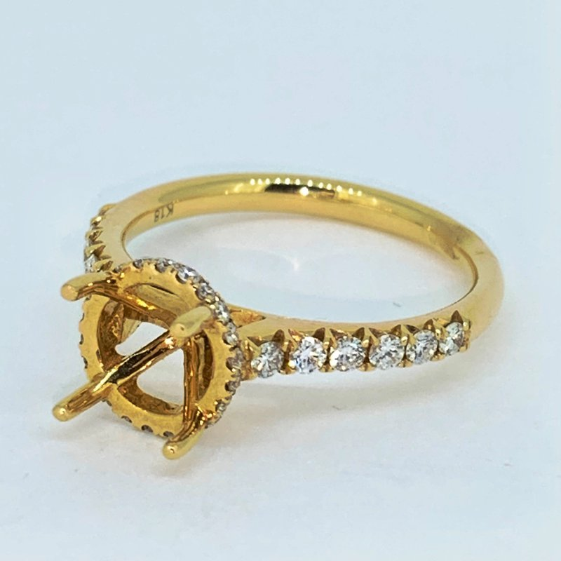 Decor Diamond Collar Ring Mounting
