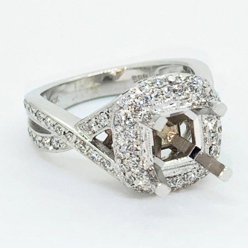 Decor Halo Crossover Diamond Ring Mounting