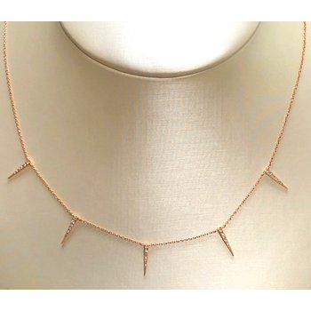 Diamond Spike Dangle Necklace