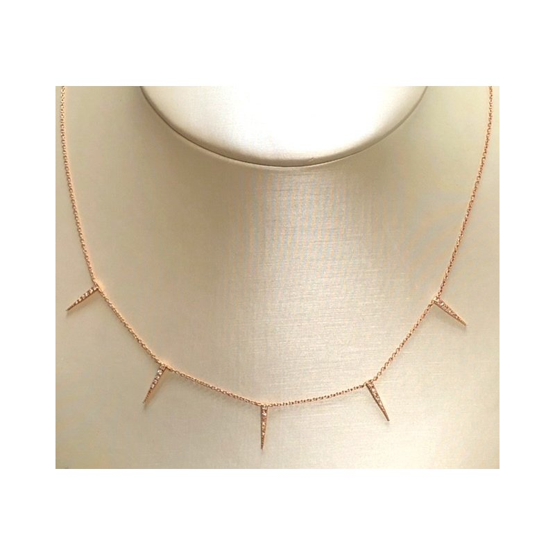 Decor Diamond Spike Dangle Necklace
