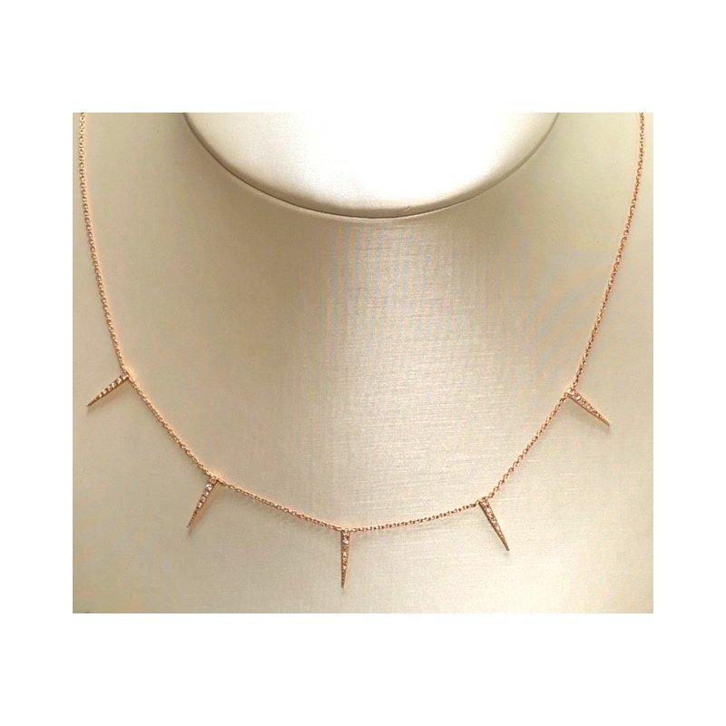 Diamond Spike Dangle Necklace