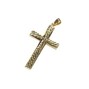 Diamond Cut Cross Pendant