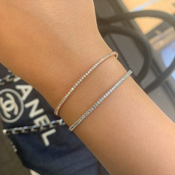 .75ctw Flexible Diamond Bracelet