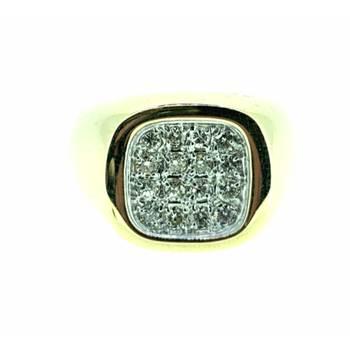 Gent's Diamond Cluster Ring