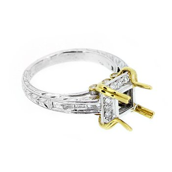 Two Tone Gold & Diamond Ring Mounting