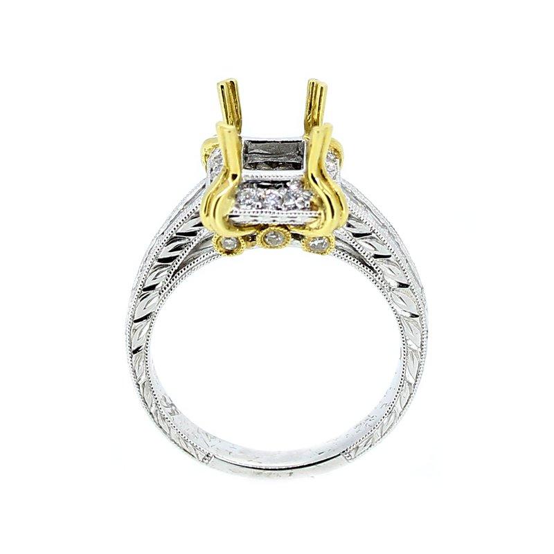 Decor Two Tone Gold & Diamond Ring Mounting